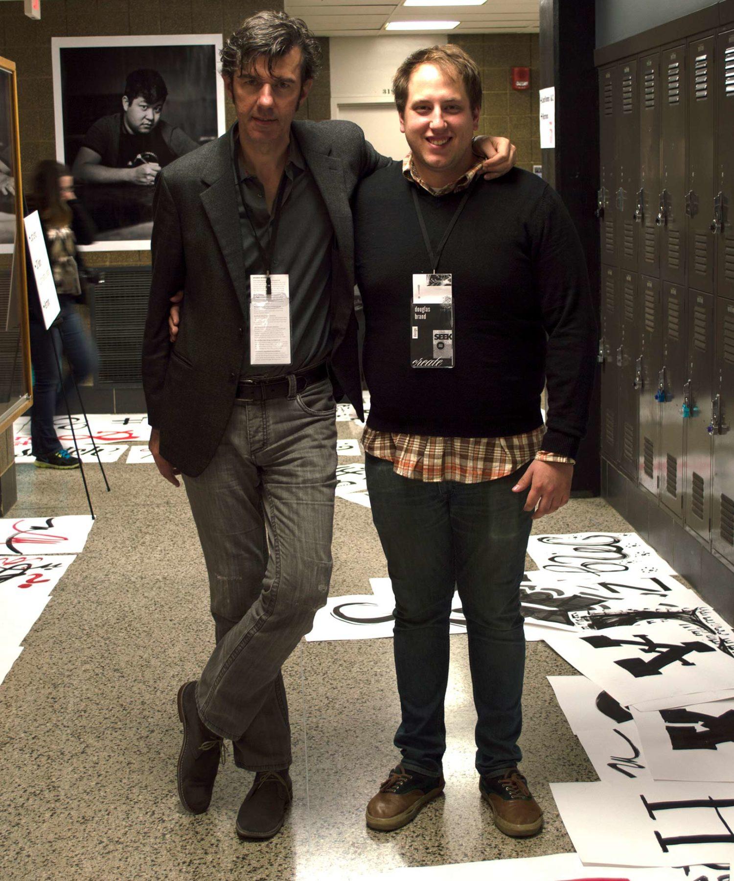 Stefan Sagmeister and then student coordinator, Doug Brand